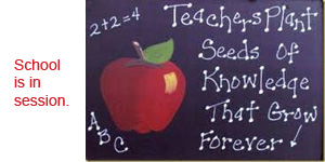 back to school chalkboard.